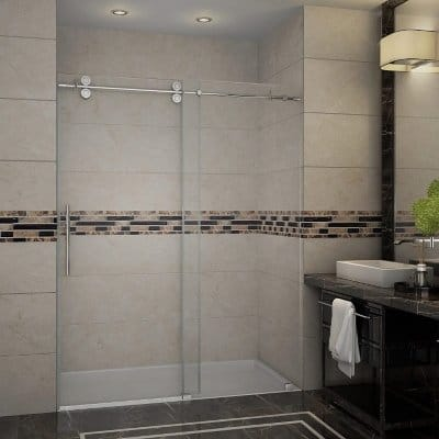 Aston Langham Frameless Frosted Glass Sliding Shower Door