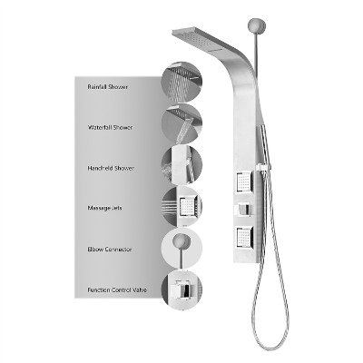 Decor Star 006-SS Rainfall Waterfall Shower Panel