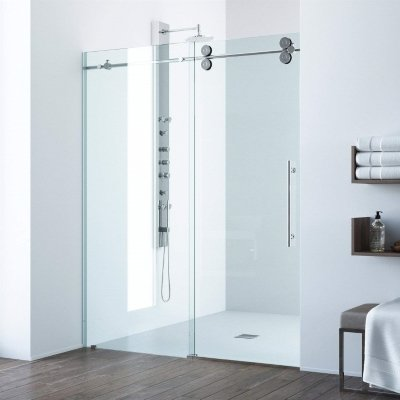 VIGO Elan Frameless Sliding Shower Door