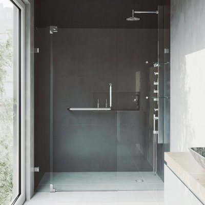 VIGO Pirouette Frameless Shower Door